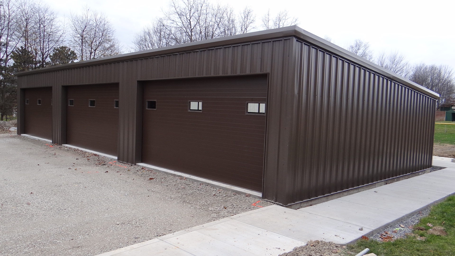 Garages fidelity steel buildings for Building a detached garage on a slope